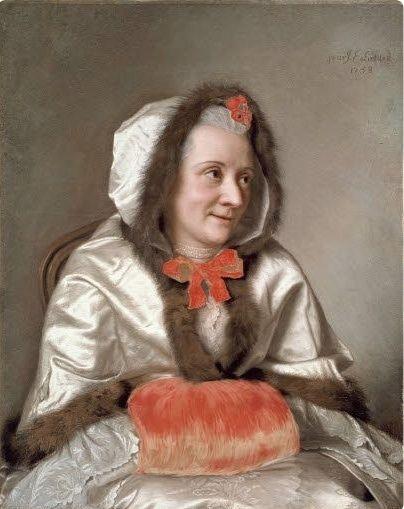 Galerie de portraits : Le manchon au XVIIIe siècle  Muff_p10