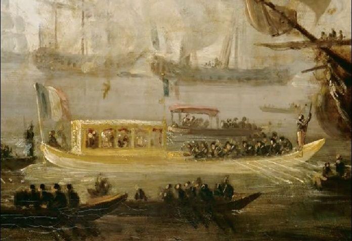 Le canot de promenade de Marie-Antoinette à Versailles Napoly10