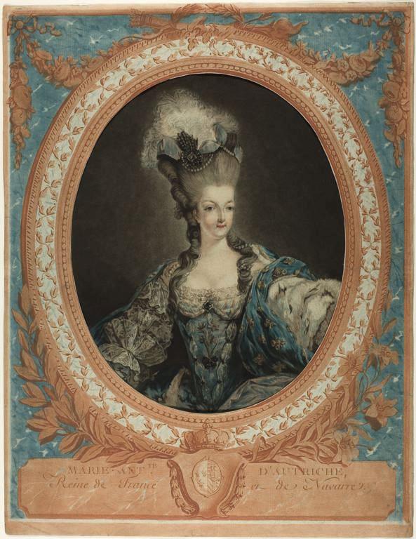 Gravures : Portraits de Marie Antoinette par Jean-François Janinet, d'après Dagoty Portra18