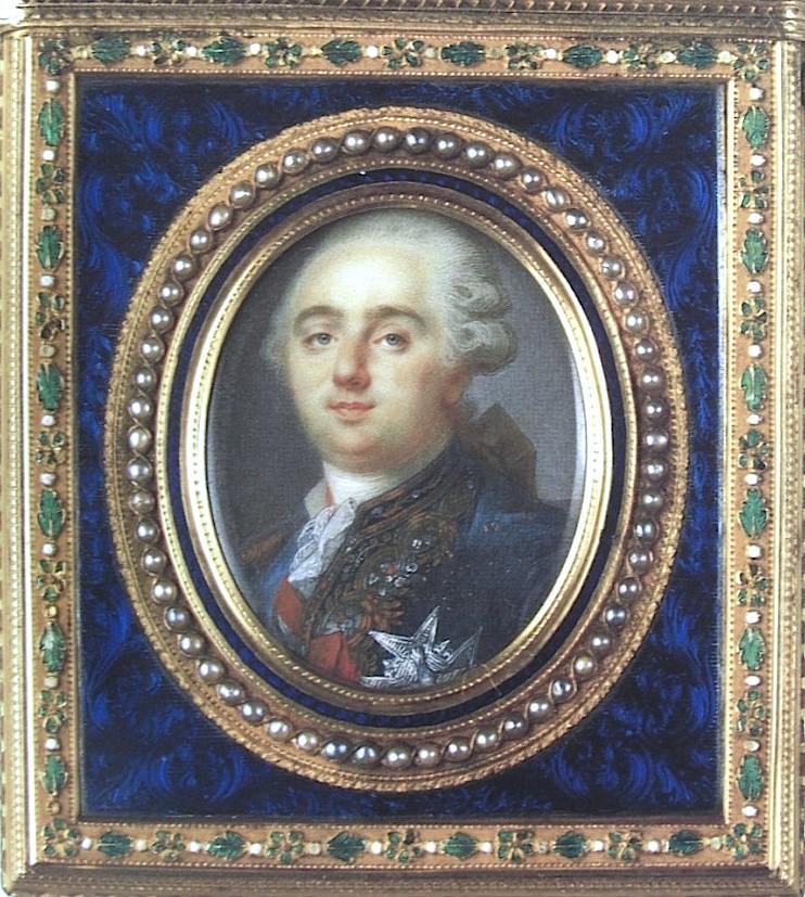 Portraits de Marie-Antoinette et Louis XVI, par Louis-Marie Sicard, dit Sicardi ou Sicardy Sicard16