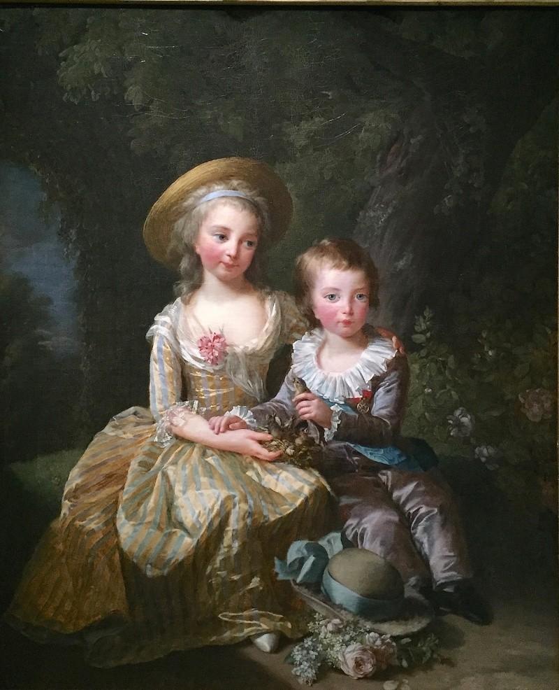 Portraits de Madame Royale et de Louis-Joseph par E. Vigée Le Brun (1784 et 1789) Vigee_16