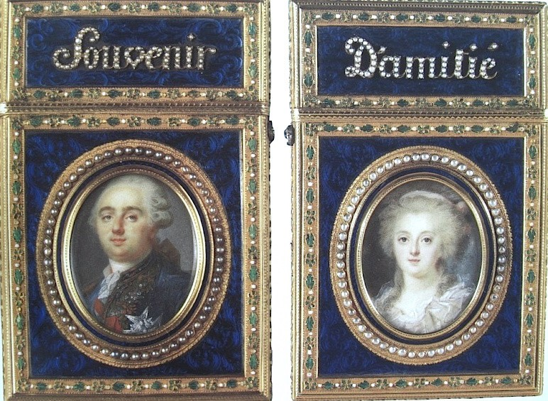 Portraits de Marie-Antoinette et Louis XVI, par Louis-Marie Sicard, dit Sicardi ou Sicardy Zlera110
