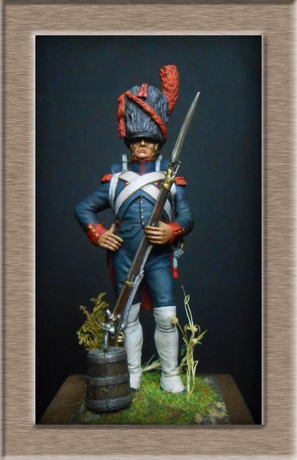 Grenadier 15e régiment Infanterie de la ligne Espagne 1807 MM 54m (modifications)  74_26011