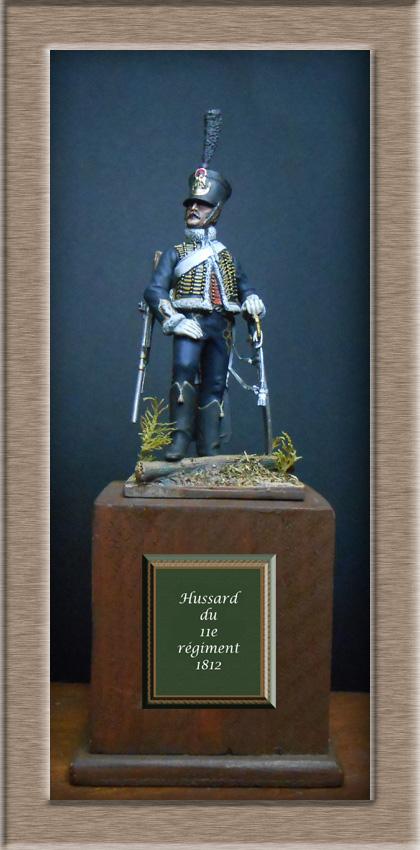 Hussard du 11e régiment 1812 MM 54mm Photo_38
