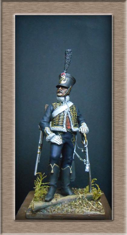 Hussard du 11e régiment 1812 MM 54mm Photo_39