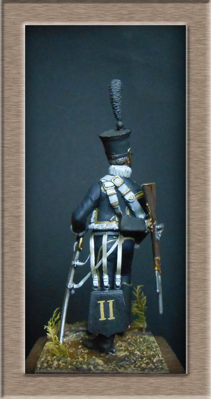 Hussard du 11e régiment 1812 MM 54mm Photo_43