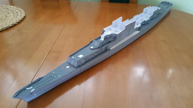 U.S.S. Long Beach   VK-Design  1:250 gebaut von Paperfreak 20151116