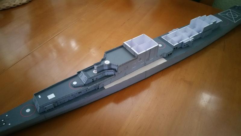 U.S.S. Long Beach   VK-Design  1:250 gebaut von Paperfreak 20151117