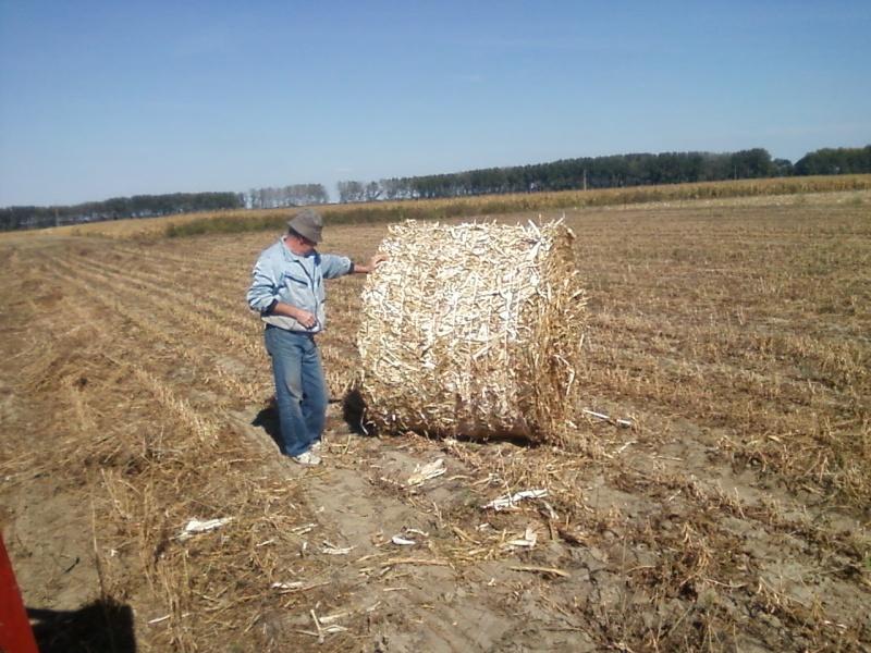 Baliranje kukuruzovine rolo  bale 315
