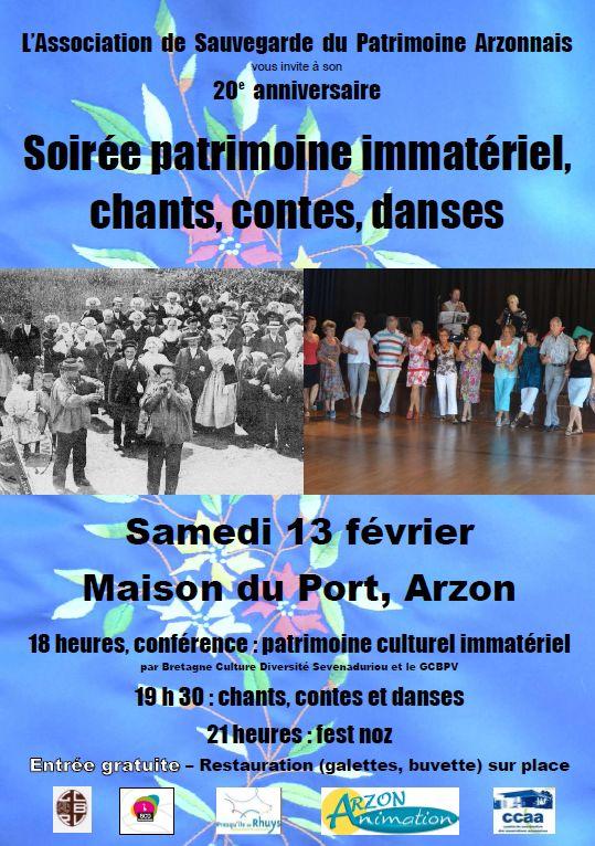 L'ASPA fête ses 20 ans le 13 février 2016, à partir de 18h, à la Maison du Port, ARZON  Affich11