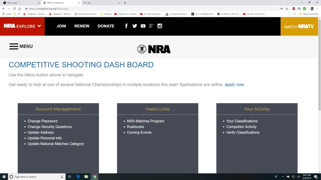 Where do I find my NRA competitor number? Cd10