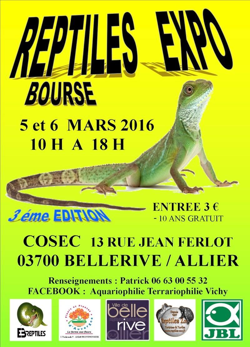 REPTILES EXPO BOURSE DE VICHY 5 ET 6 MARS 2016 Affich23