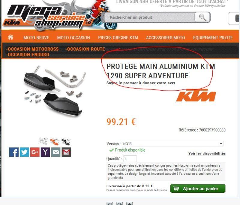 Protèges-mains KTM pour SD 1290 Captur13