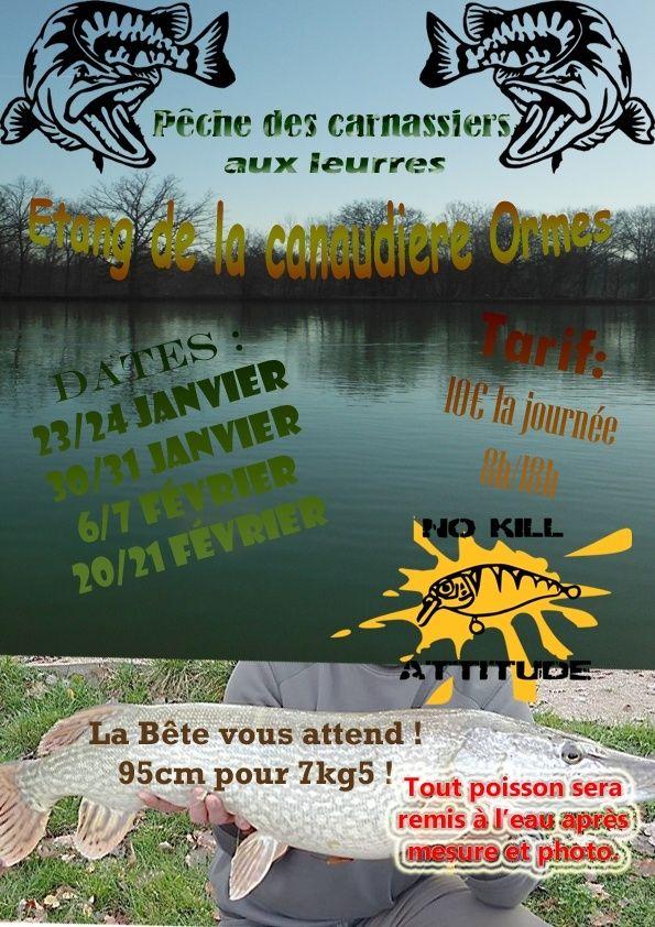 Pêche dans un étang privée dans le Loiret proche d'Orléans Affich10