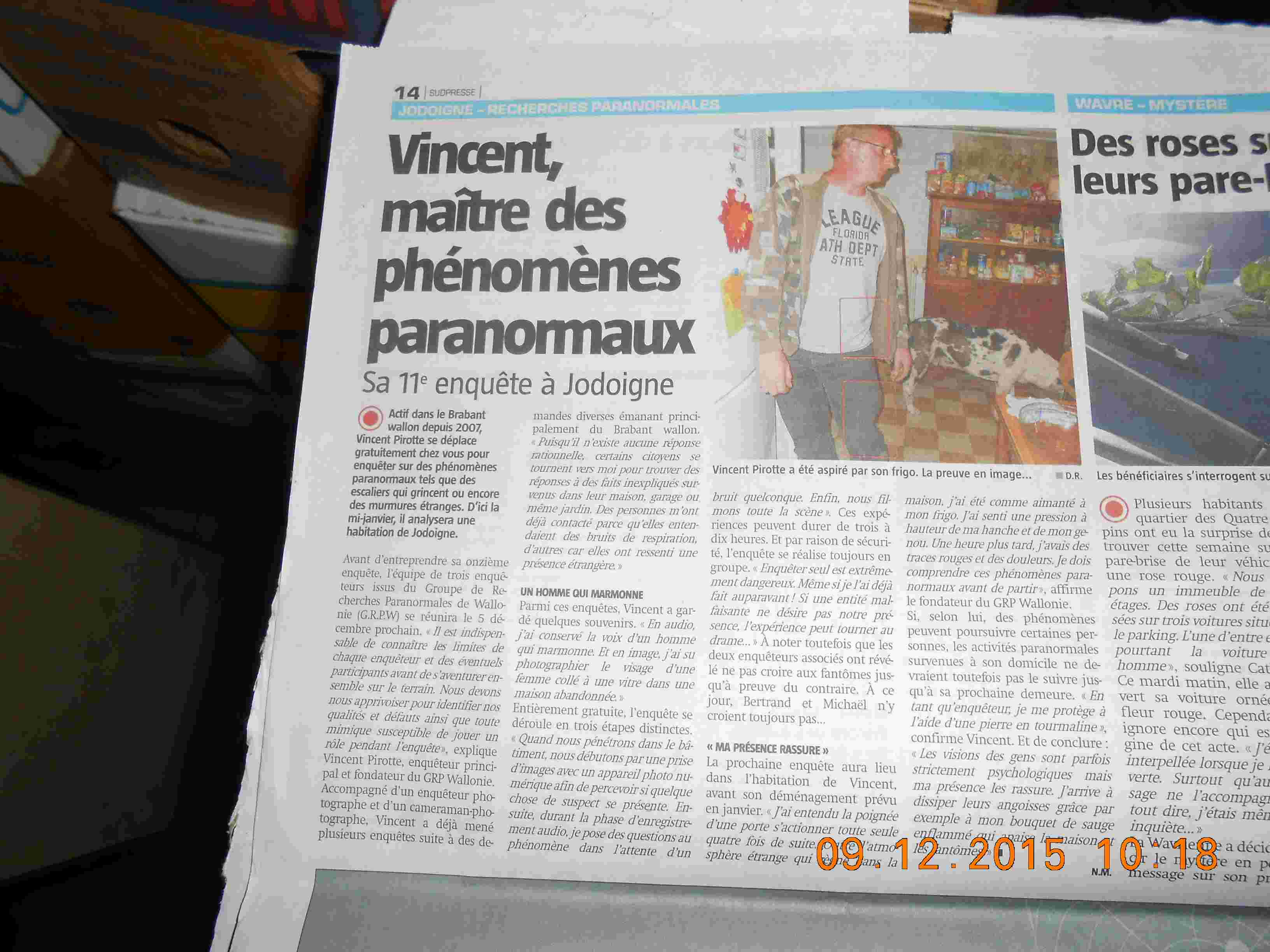 Interview avec la capitale.be Brabant Wallon le 25 novembre 2015 Dscn0516