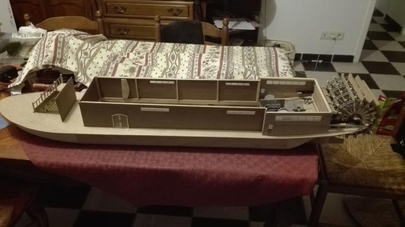 Le Marieville mississipi boat au 1/50° sur plan  - Page 2 Constr10