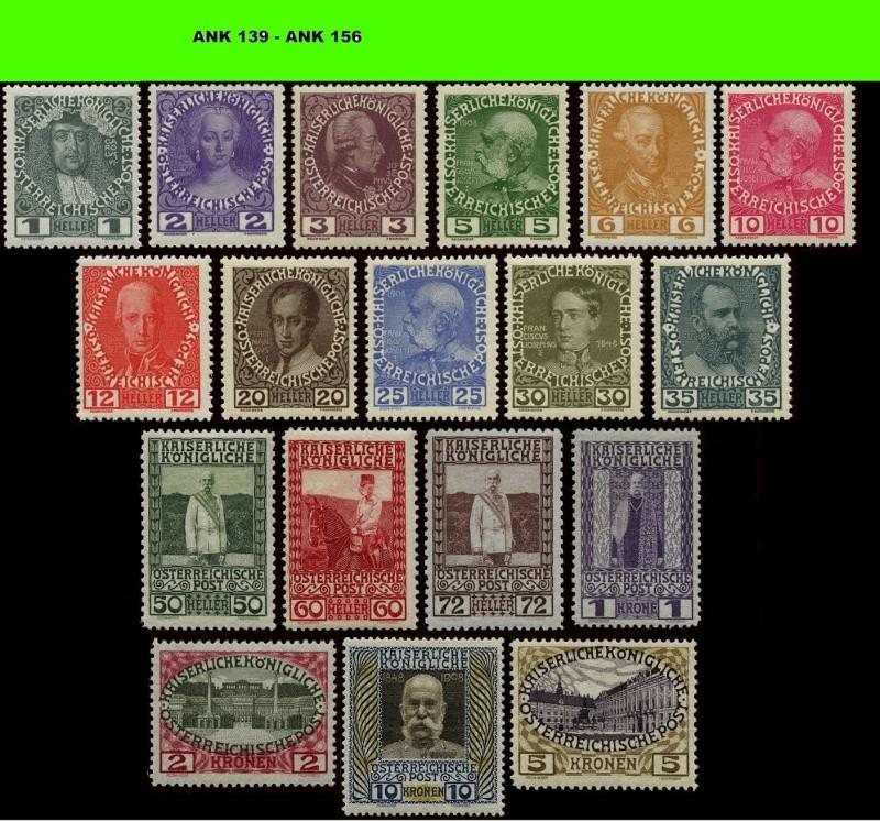 Die Freimarkenausgabe 1908 Komple11
