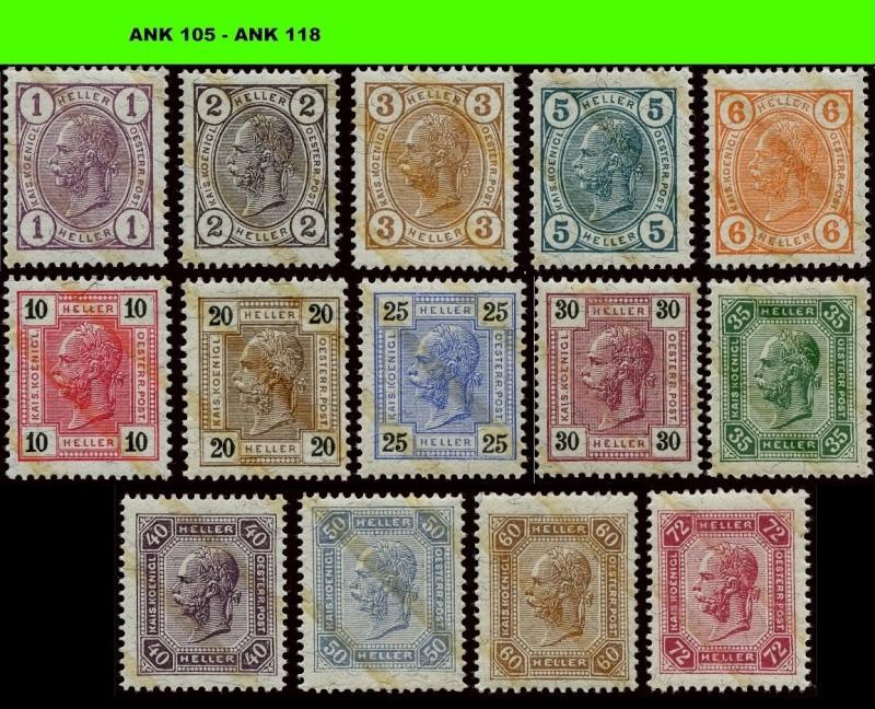 Die Freimarkenausgabe 1904 & 1905 Komple18