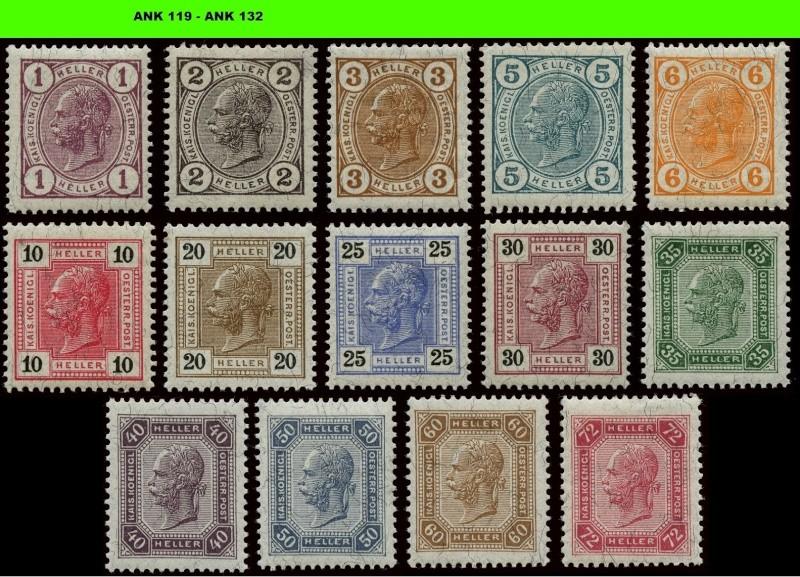 Die Freimarkenausgabe 1904 & 1905 Komple19