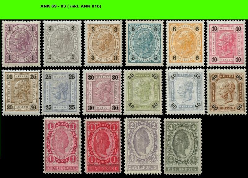 Freimarkenausgabe 1899 Komple20