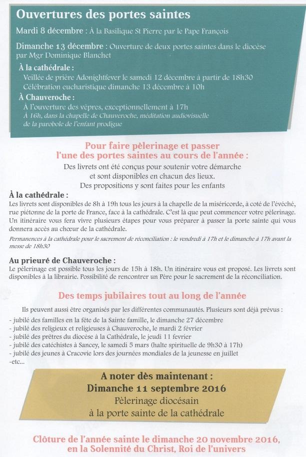 Trait d'union du 22 novembre 2015 et propositions de prières locale et du diocèse pour l'année liturgique à venir Annee_11