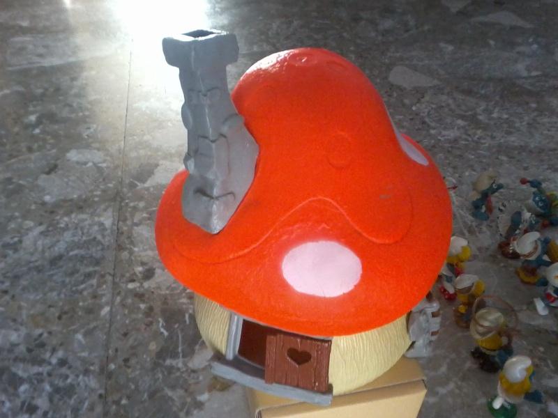 puffi anni 70 80 piu casetta fungo arancione Foto2815
