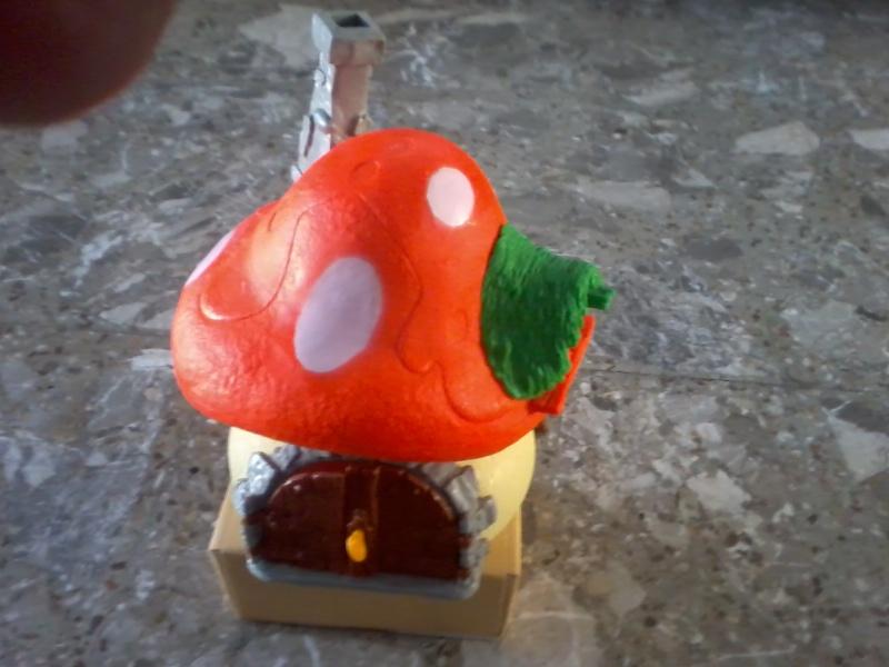 puffi anni 70 80 piu casetta fungo arancione Foto2816