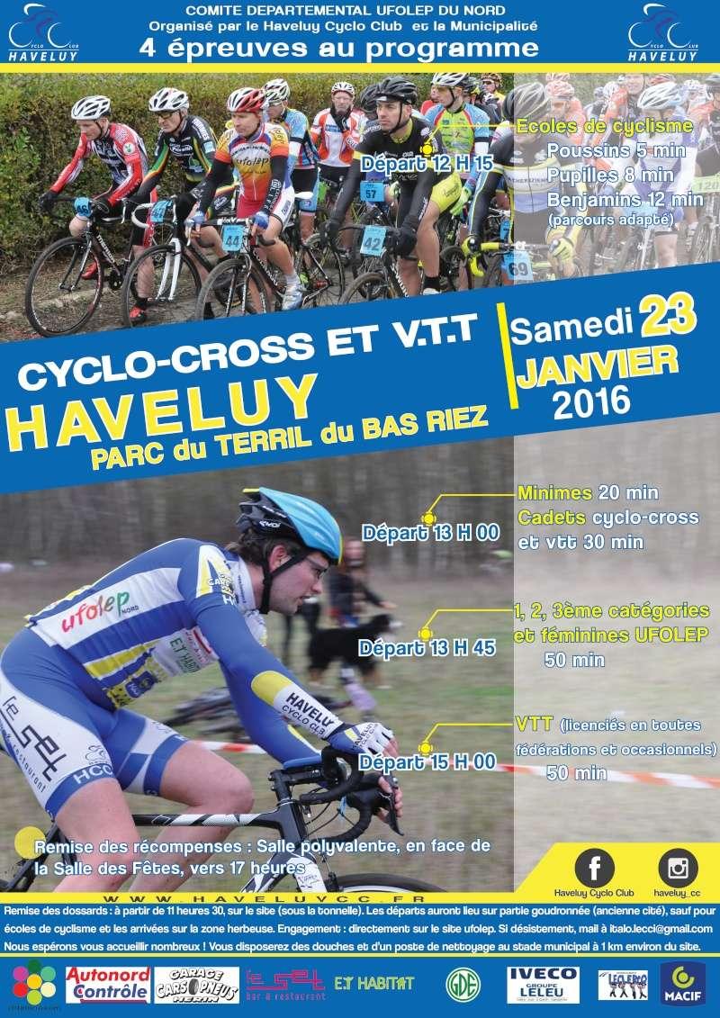 Cyclo-cross et VTT à Haveluy (59) Le samedi 23 janvier 2016 — Aucun commentaire ↓ Course11