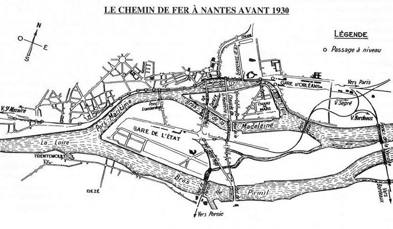 L'ARRIVÉE DU CHEMIN DE FER ET LES GARES Nantes10