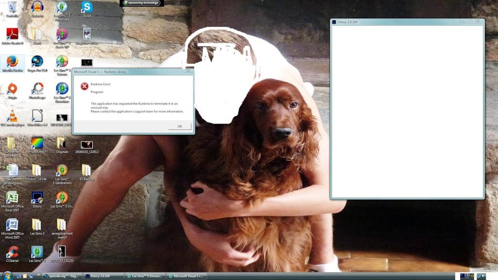 Runtime error Microsoft visual C++ Sans_t15