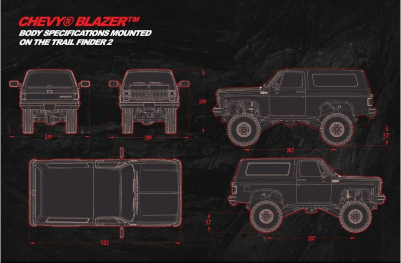 News RC4WD Chevrolet Blazer Hard Body Complete Set 0110