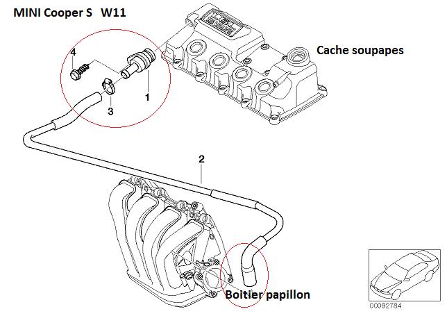[ Mini R53 Cooper S an 2004 ] Localisation Durite aspiration boîtier papillon (résolu) 11_min10