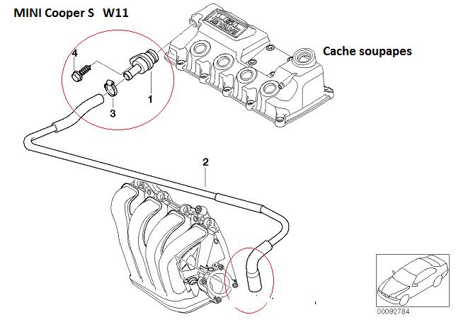 [ Mini R53 Cooper S an 2004 ] Localisation Durite aspiration boîtier papillon (résolu) 11_min11