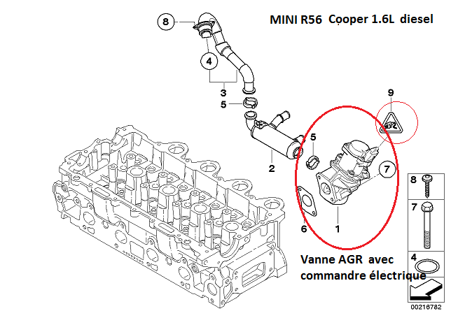 [ MINI R56 cooper 1,6 D an 2007 ] Vanne egr HS : perte de puissance 11_min12