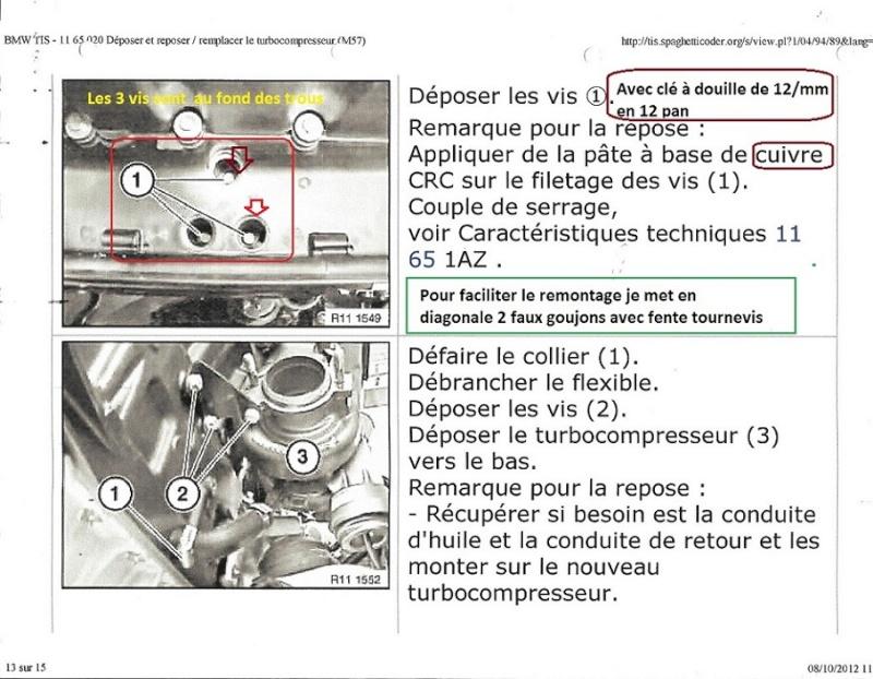[ BMW e46 320d M47 150ch an 2002 ] aide au changement du turbo 11_sca12