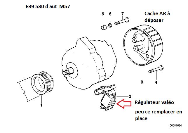 [ BMW E39 530DA M57 an 2000 ]   voyant batterie clignote, alternateur ? (Résolu ) 12_e3910