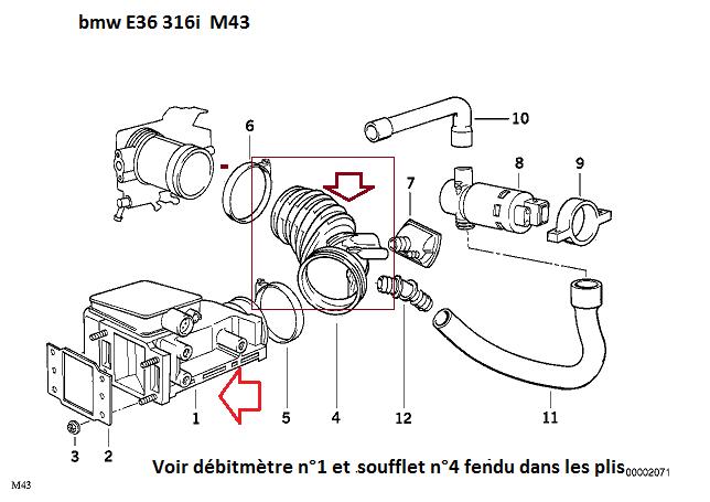 [ BMW E36 316i bva compact an 1996 ] problème de régime moteur  13_m4311