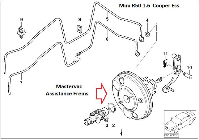 [ MIni Cooper 1.6 ess R50 an 2002 ] Bruit de pschiit ( air ) quand j'appuie sur pedale de frein 34_min10
