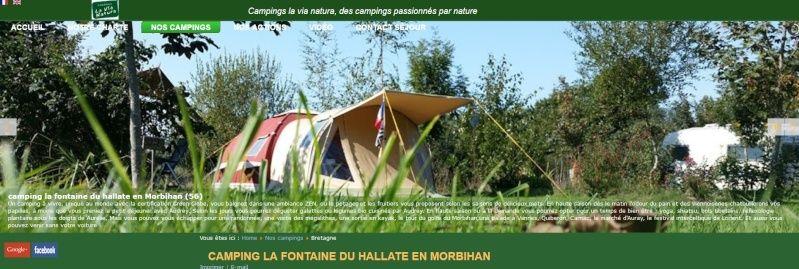 "Le camping ""la fontaine du Hallate""  (56) Domyan10"
