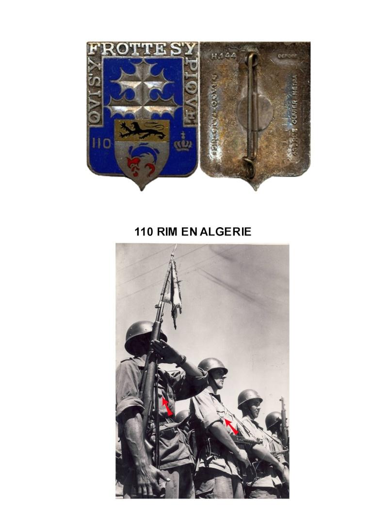 enfin l insigne de mon regiment 110 RI L_eccu11