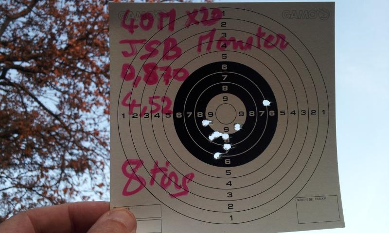 test de plombs JSB et H&N 40m Gamo Hunter IGT   Jsb_mo10