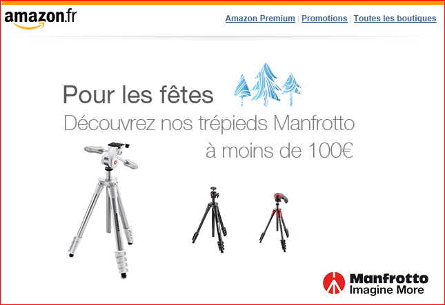 Vente flash Amazon - Rotule Manfrotto MHXPRO-3W Tre10