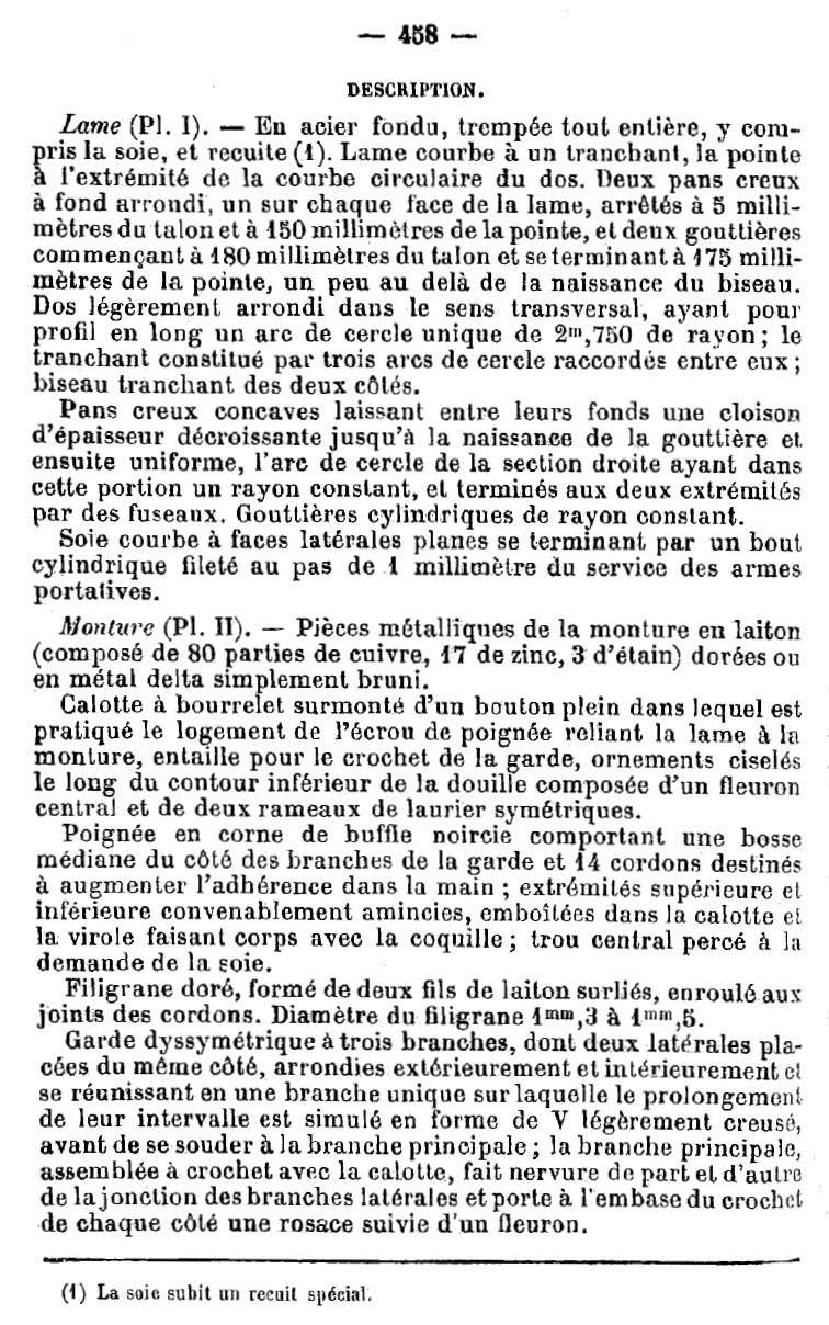Sabre d'officier d'artillerie modèle 1822-99 1822-911