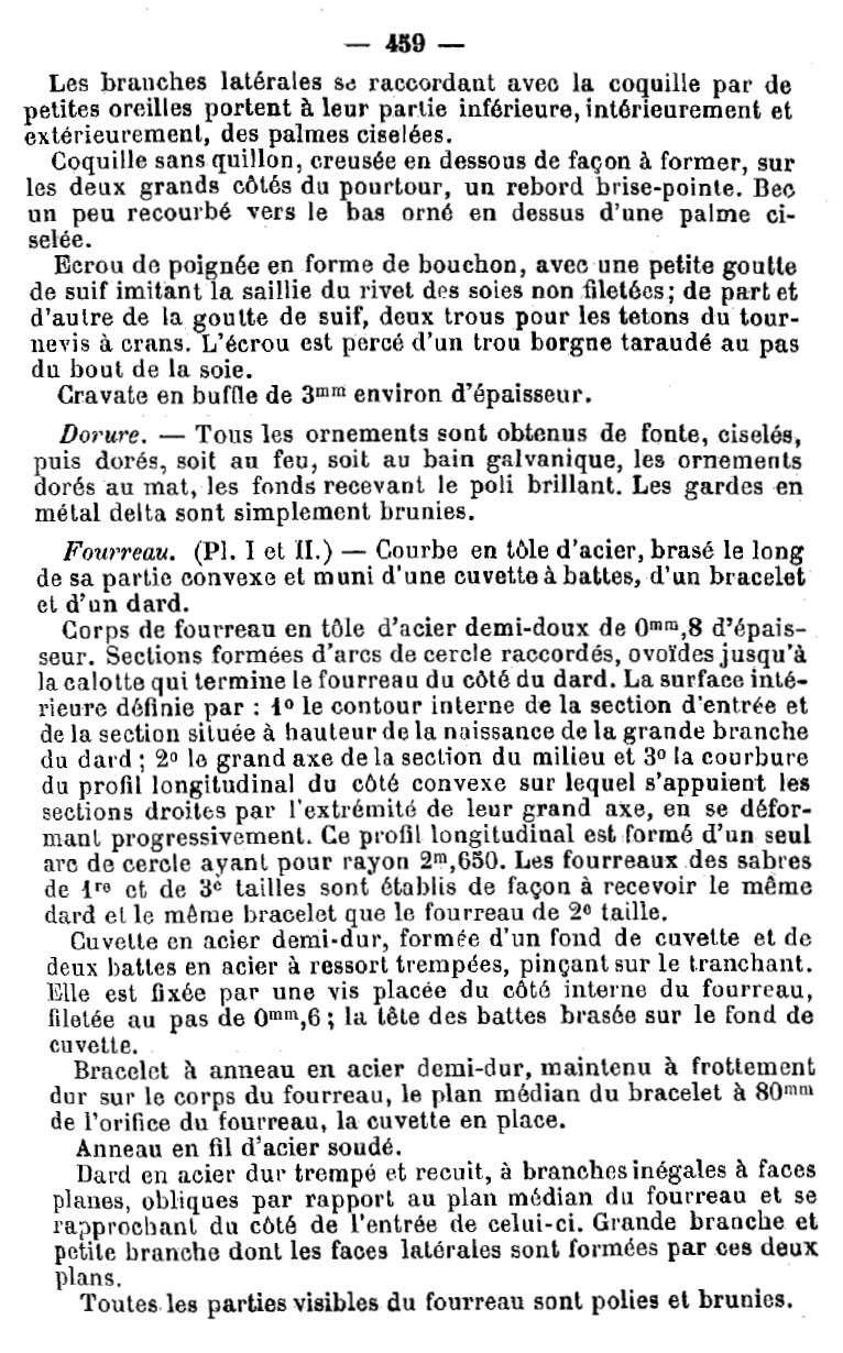 Sabre d'officier d'artillerie modèle 1822-99 1822-912