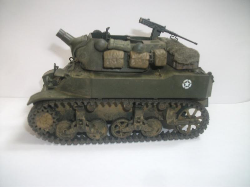 """ lance patates "" obusier automoteur M8 Tamiya 1/35 RICM 1945 00119"
