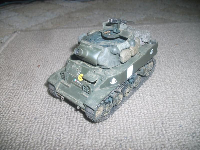 """ lance patates "" obusier automoteur M8 Tamiya 1/35 RICM 1945 00120"