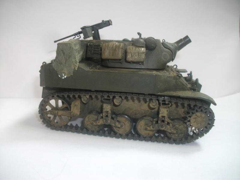 """ lance patates "" obusier automoteur M8 Tamiya 1/35 RICM 1945 00315"