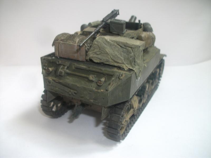 """ lance patates "" obusier automoteur M8 Tamiya 1/35 RICM 1945 00412"