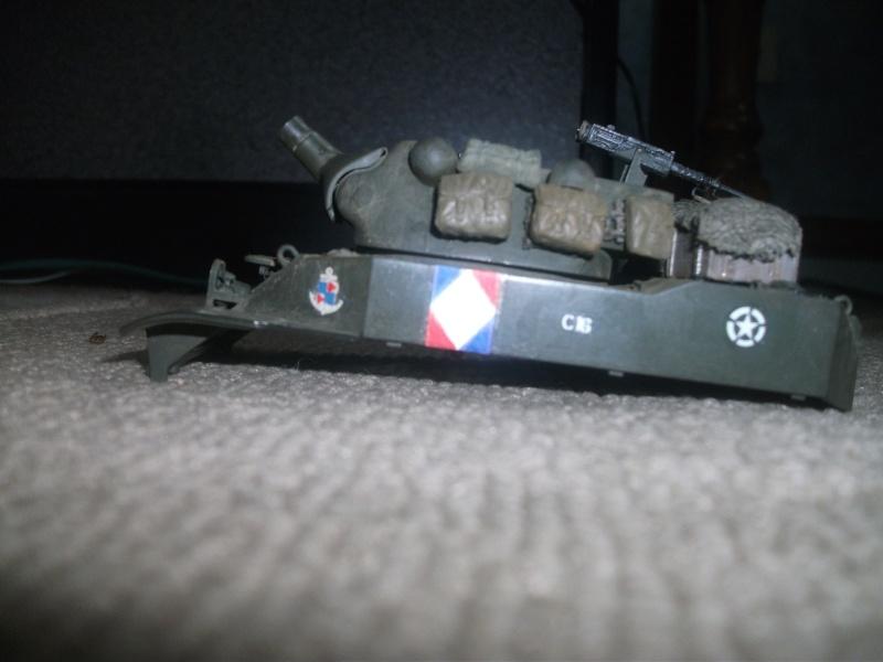 """ lance patates "" obusier automoteur M8 Tamiya 1/35 RICM 1945 00711"