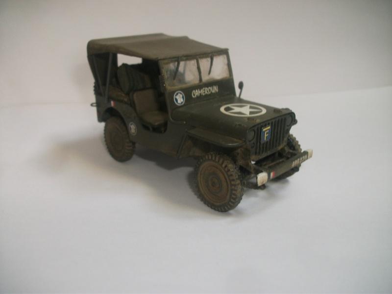 Les restes sont finis Jeep 2eme DB 1/35 mélange Italeri , Heller ,Tamiya 01214